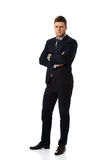 Successful businessman with folded arms. Royalty Free Stock Images