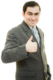 A successful businessman gesture shows ok Stock Images