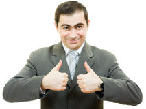A successful businessman gesture shows ok Royalty Free Stock Photo