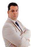 Successful businessman in grey suit Stock Photo