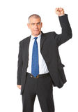 Successful businessman with hand up Stock Photos