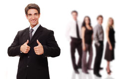 Successful businessman with his team Stock Photos