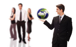Successful businessman with his team Stock Photography