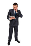 Successful businessman isolated on white Stock Images