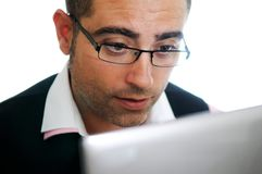 Successful businessman with laptop Royalty Free Stock Photo