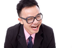 Successful businessman laughing Royalty Free Stock Images