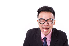 Successful businessman laughing Stock Photos