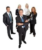 Successful businessman leading his team on white Royalty Free Stock Photo