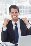 Successful businessman looking at camera Royalty Free Stock Images
