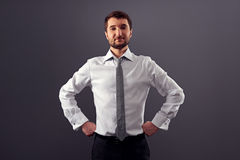 Businessman looking at camera Royalty Free Stock Photos