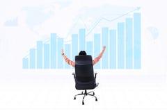 Successful businessman make profit Royalty Free Stock Photos