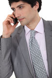 Successful businessman making a call Stock Images