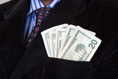 Successful businessman with money Royalty Free Stock Images