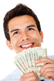 Successful businessman with money Royalty Free Stock Photos