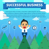 Successful businessman with mountain background Royalty Free Stock Photos