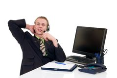 Successful businessman office Royalty Free Stock Photo