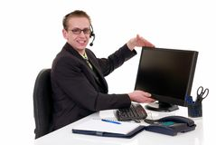 Successful businessman office Royalty Free Stock Photos