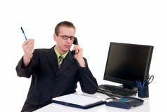 Successful businessman office Royalty Free Stock Photography