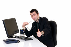 Successful businessman office Stock Image