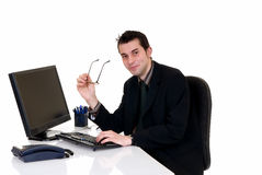 Successful businessman office Royalty Free Stock Image