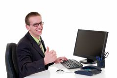 Successful businessman office Stock Photo