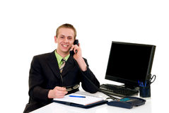 Successful businessman office Stock Images