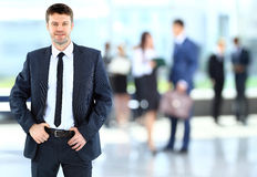 Successful businessman at the office Stock Photos