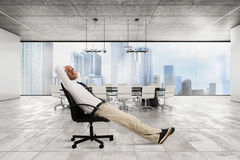Successful businessman office stock photo