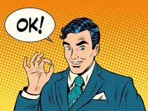 Successful businessman okay gesture OK Stock Images