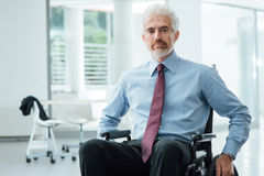 Successful businessman overcoming disability