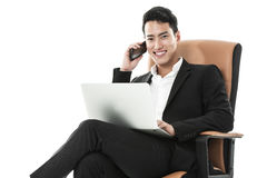 Successful businessman on the phone Stock Photos