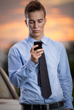 Successful businessman on phone Stock Image