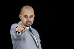 Successful businessman pointing at you Royalty Free Stock Photography