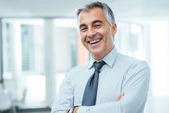 Successful businessman posing Stock Photos