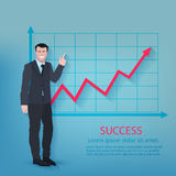 Successful Businessman Poster Stock Images