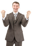 Successful businessman raised his hands up Royalty Free Stock Images