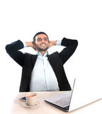 Successful Businessman relaxed and satisfied Stock Images