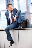 Successful businessman resting Royalty Free Stock Image