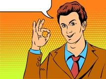 Successful businessman saying okay Stock Photos