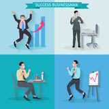 Successful Businessman Set Royalty Free Stock Image