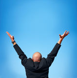 Successful - businessman showing success Stock Photography