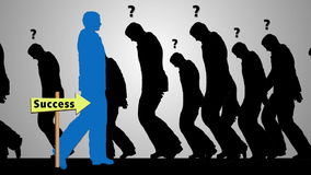 Free Successful Businessman Silhouette Walking Toward Success Stock Photo - 47950710
