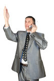 The successful businessman speaking by phone Stock Photos