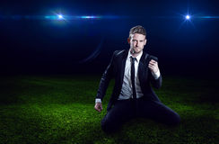 Successful Businessman. In the spotlight Stock Image
