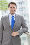 Successful Businessman In Suit on Rooftop Stock Image