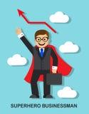 Successful businessman superhero Royalty Free Stock Photography
