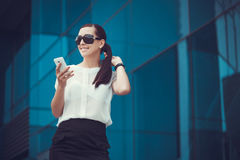 Successful businessman talking on cellphone. Stock Photo