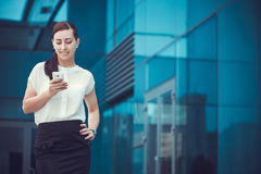 Successful businessman talking on cellphone. Royalty Free Stock Photos