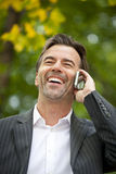 Successful Businessman Talking On the Phone Stock Photos