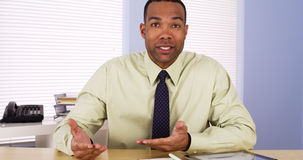Successful businessman talking to camera Royalty Free Stock Photo